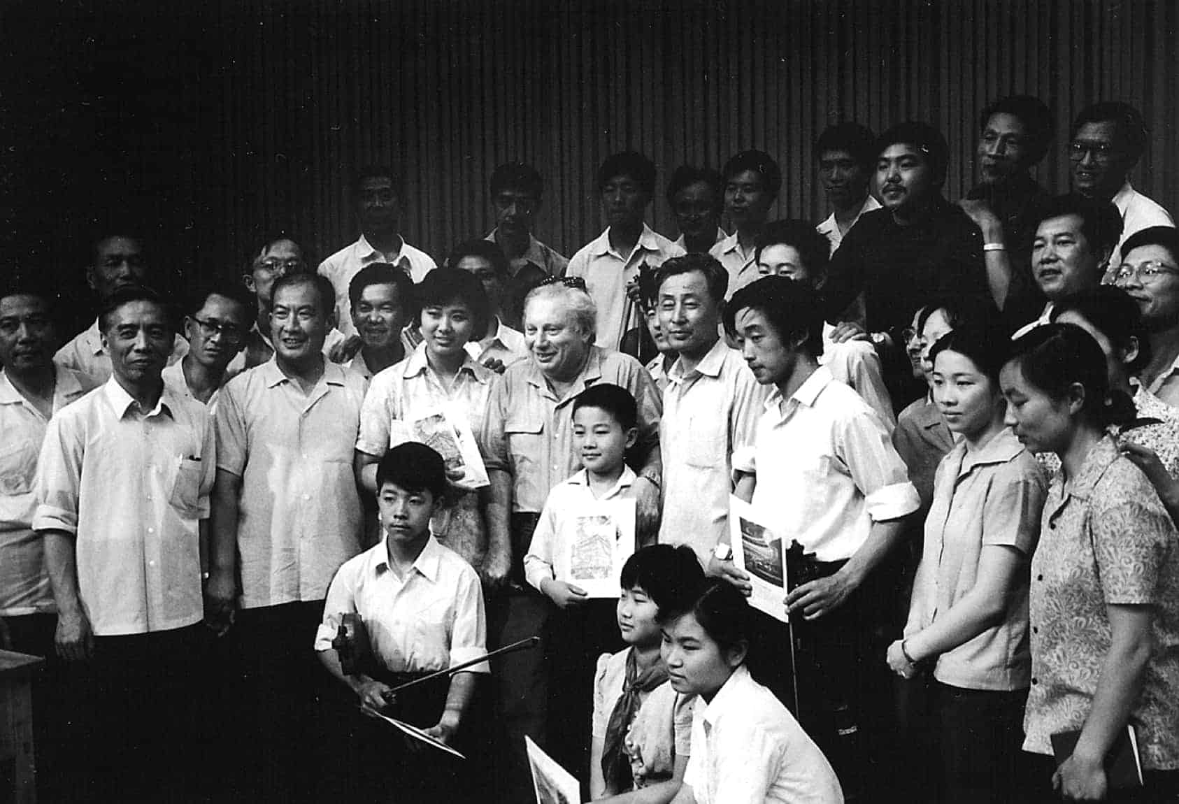 In Beijing, Stern appeared with the Central Philharmonic Orchestra in a concert that was televised live throughout China (1980)