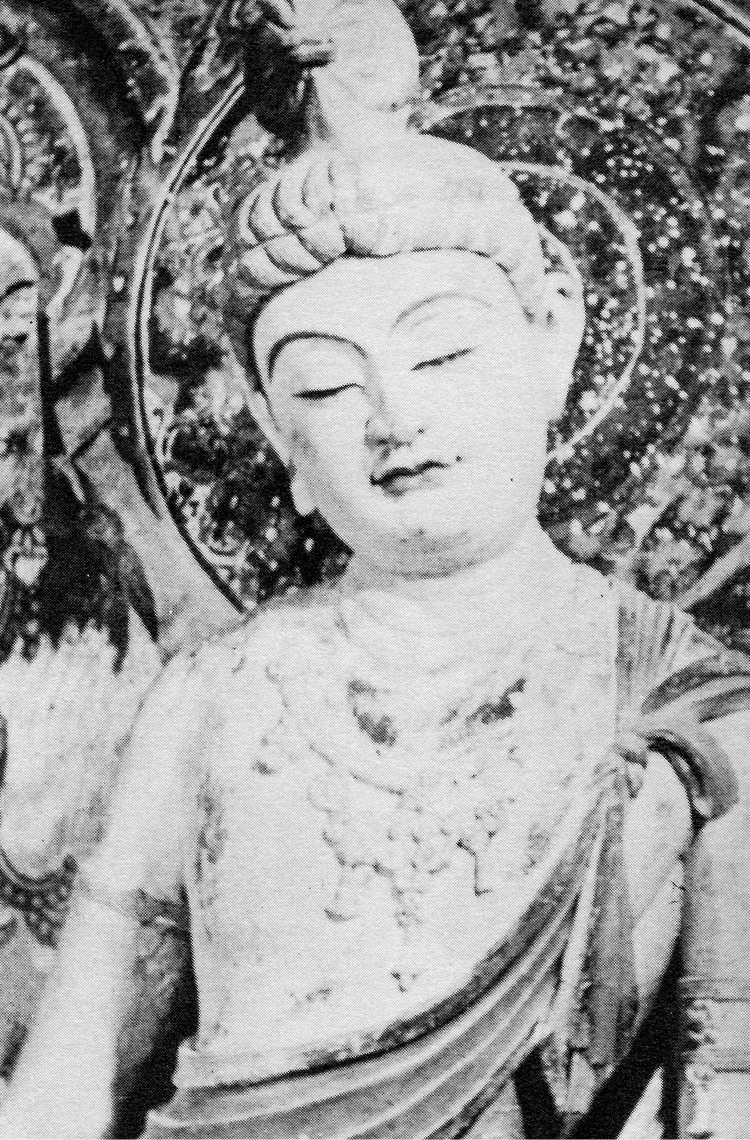 Sculpture of a Boddhisattva from Mo Gao Ku in Dunhuang