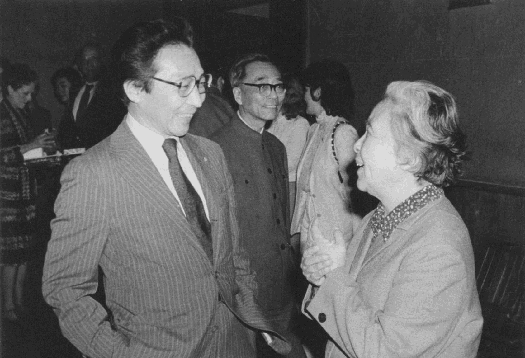 Writer Ding Ling with Chou Wen-chung