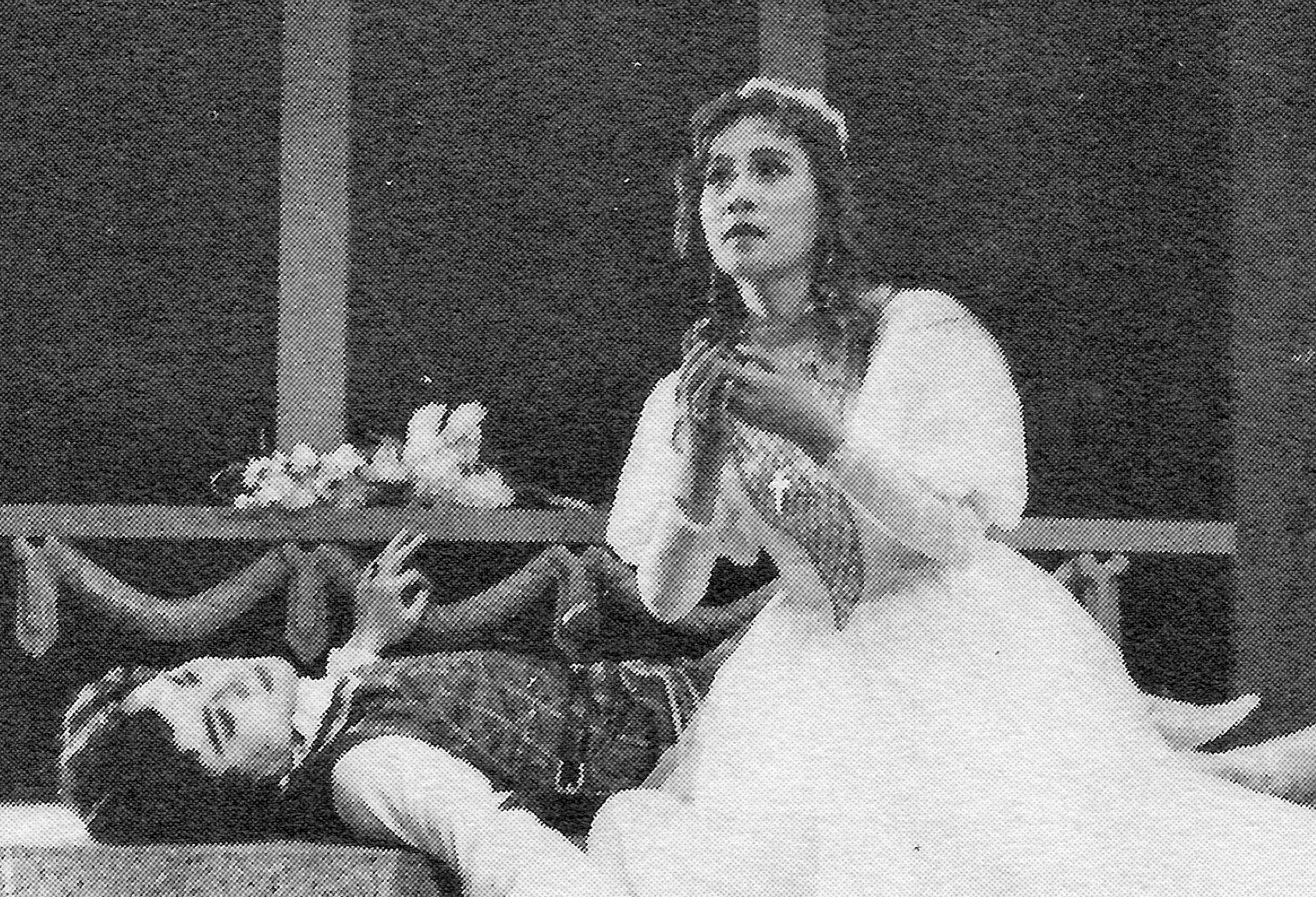 Scene from a production of Romeo and Juliet by the Shanghai People's Art Theatre, December 1980
