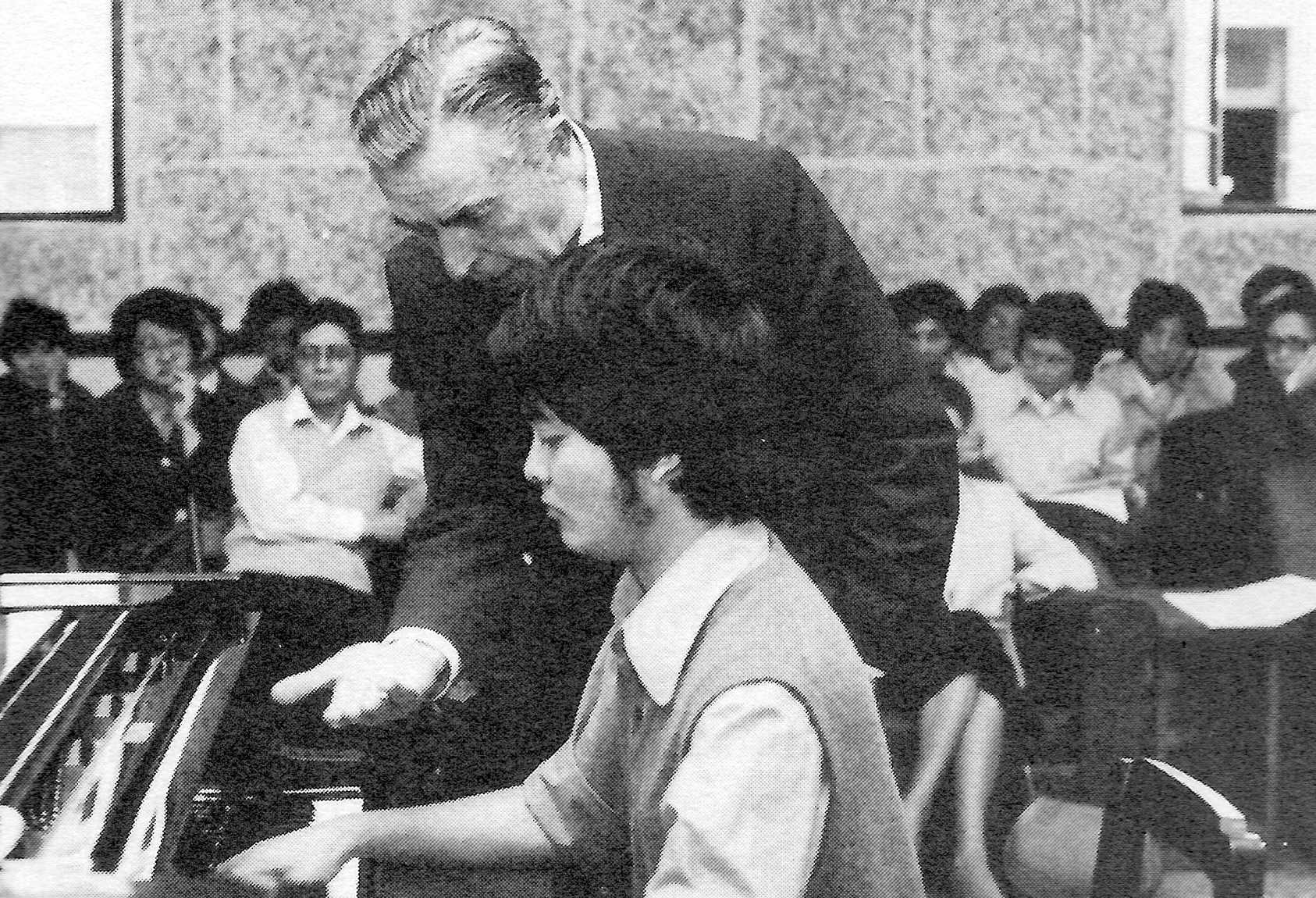 Rudolf Firkusny coaching a student at the Shanghai Conservatory of Music