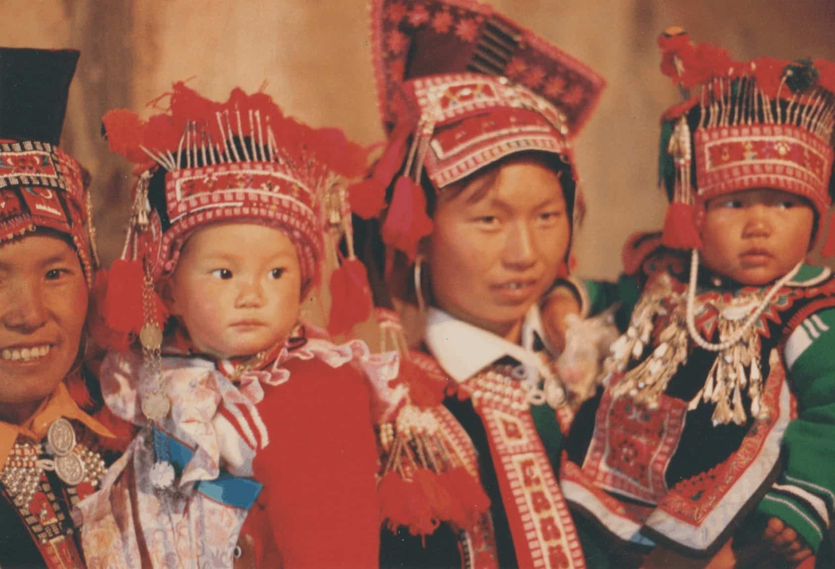 Minority women and children in Yunnan