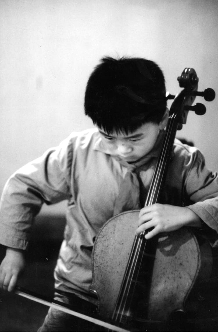 Cellist, Jian Wang at Shanghai Conservatory