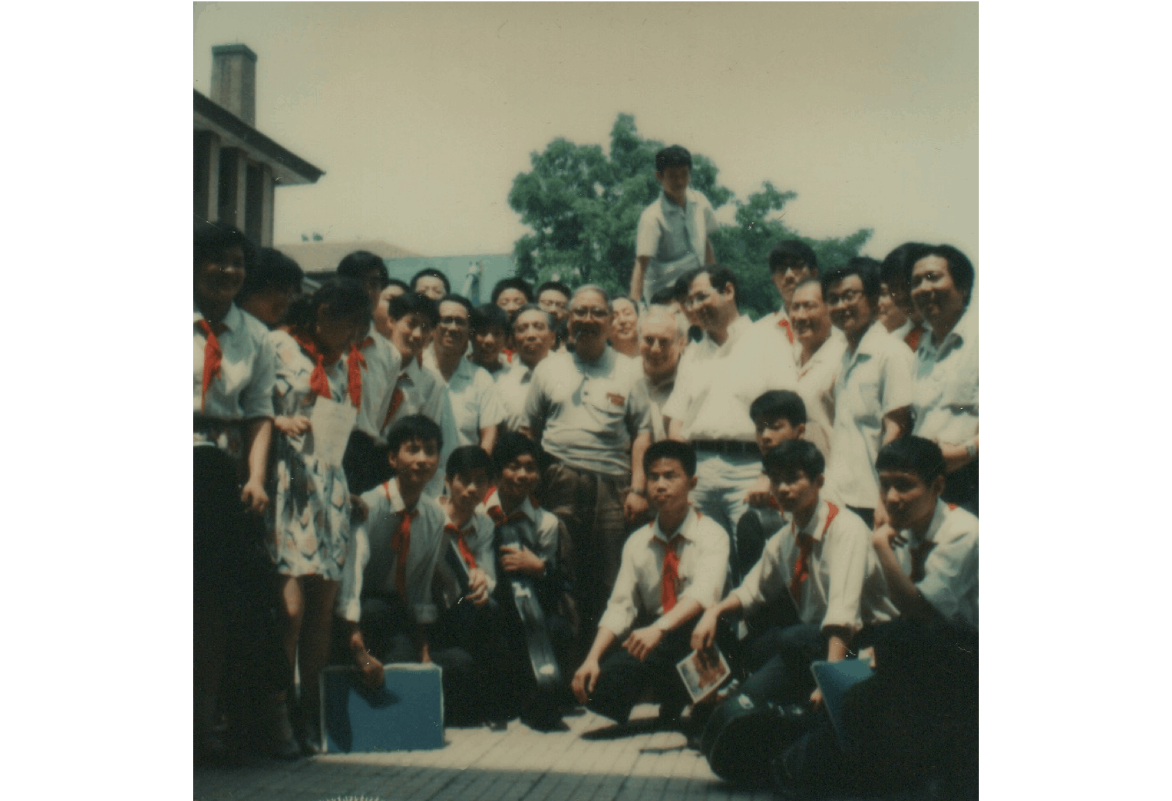 Isaac Stern, David Golub and students at the Central Conservatory of Music in Beijing