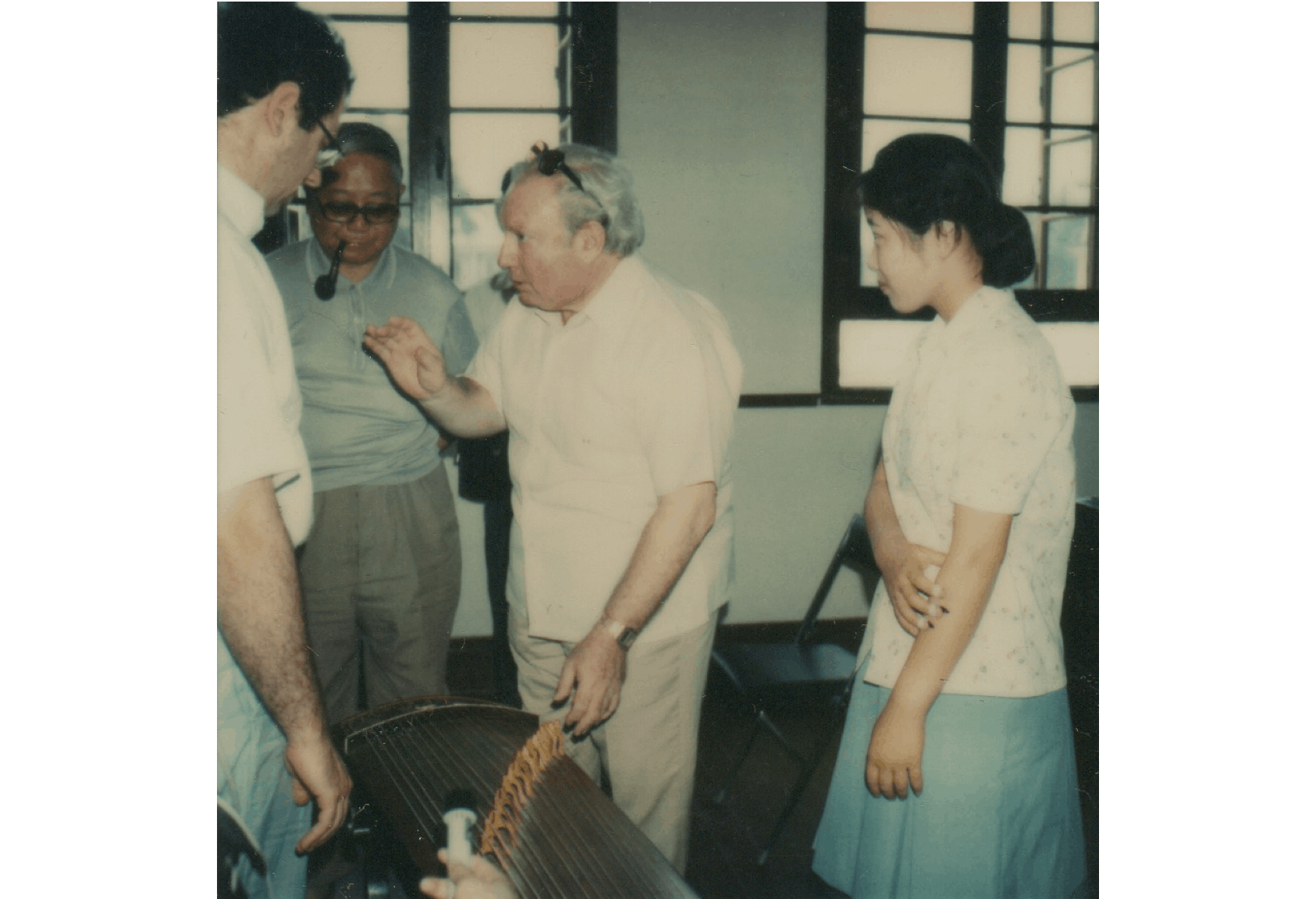 Isaac Stern and David Golub at the Central Conservatory of Music in Beijing